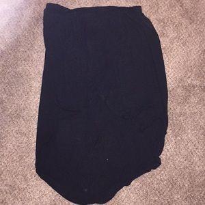 Layered high low skirt